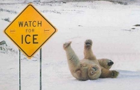 csúszós jég