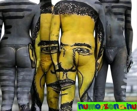 obama body paint