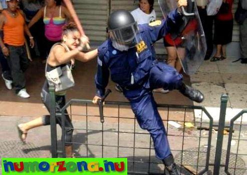 menekülő rendőr