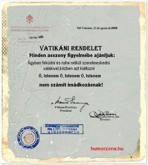 humorzona.hu-vatikán